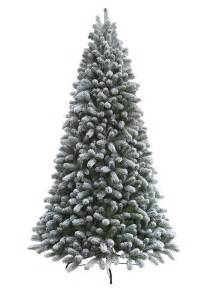 7 5 foot king flock artificial christmas tree unlit