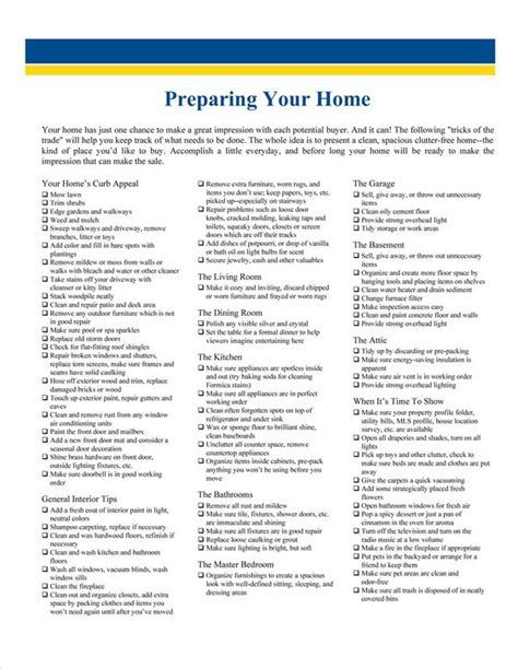 home interior design checklist preparing your home to sell checklist selling your home