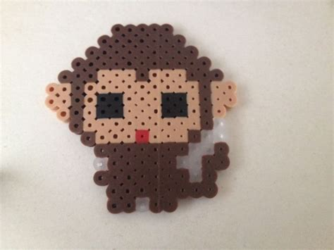 bead monkey pin by tatiana brower on crafts with perler