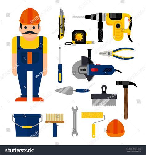 household repairs diy home repairs power hand tools stock vector 292004096
