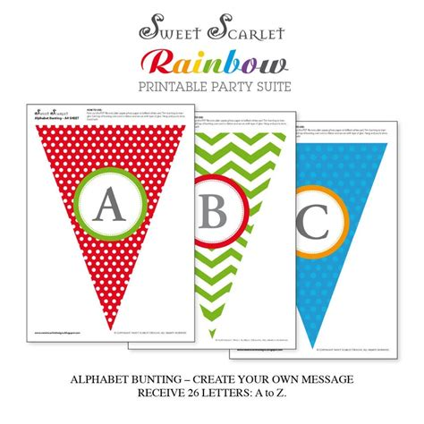 printable mini bunting letters pin by shannon grace on caden s first birthday pinterest