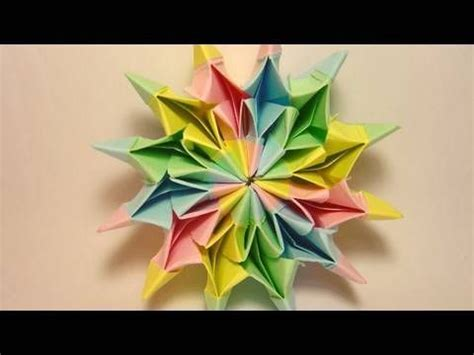 How To Make Origami Fireworks - how to make colorful quot fireworks quot using origami paper