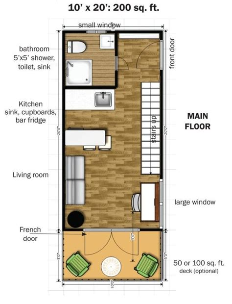 10 x 20 foot floor plan the eagle 1 micro home 0010 600x785 the eagle 1 a 350 sq