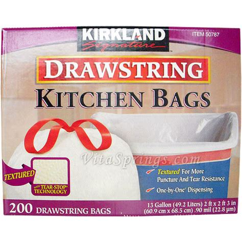 Kirkland Signature Drawstring Kitchen Trash Bags 13 Gallon by Buy Kirkland Signature Compare Prices Find Best