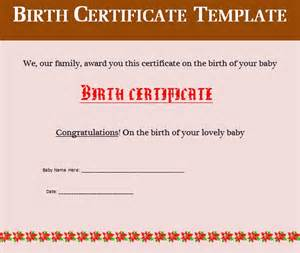 birth certificate templates doc 585467 birth certificate template for word birth