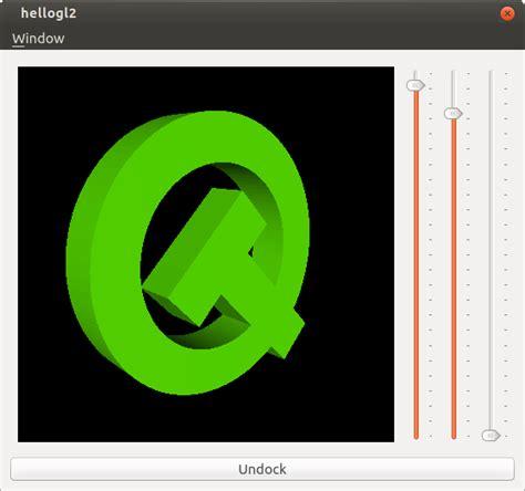qt programming opengl hello gl2 exle qt opengl