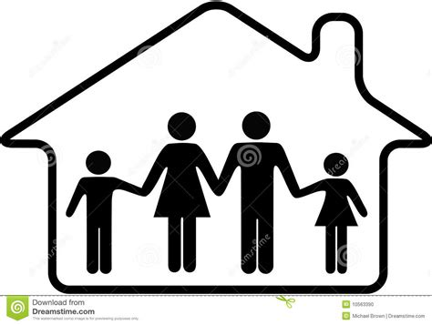 parents house house family parents children safe in home stock photo image 10563390