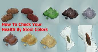 the color of your stool may indicate that you are