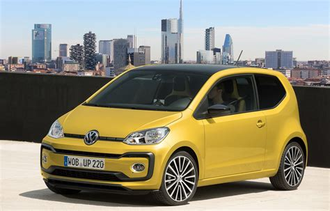 volkswagen up yellow refreshed vw up priced from 163 8 995 in the uk carscoops