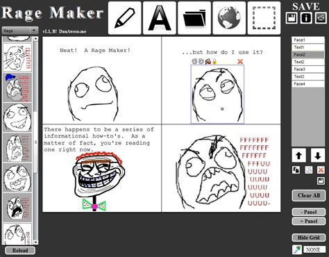 Meme Rage Generator - membuat meme komik sendiri dengan rage maker download game dan software gratis