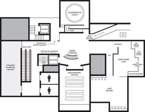 Small Townhouse Floor Plans by Museum Maps National Museum Of African American History