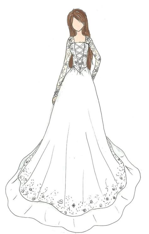 Brautkleider Zeichnen wedding dress design by kiknessa on deviantart