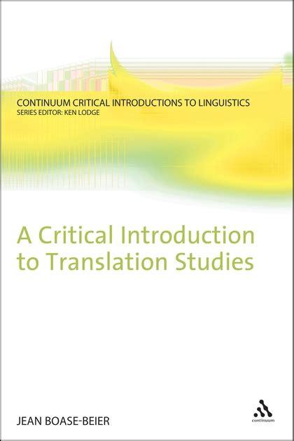 world cinema a critical introduction books a critical introduction to translation studies continuum