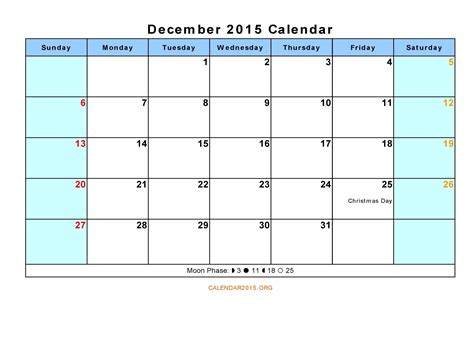 free calendar templates excel printable december 2015 calendar with holidays calendar