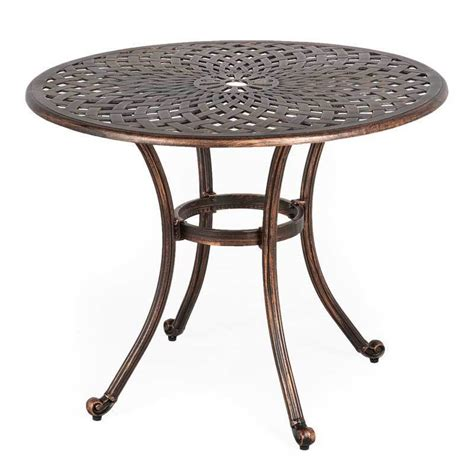 Patio Garden Table Metal Outdoor Table Patio Furniture Garden Dining Bistro Balcony Retro Ebay