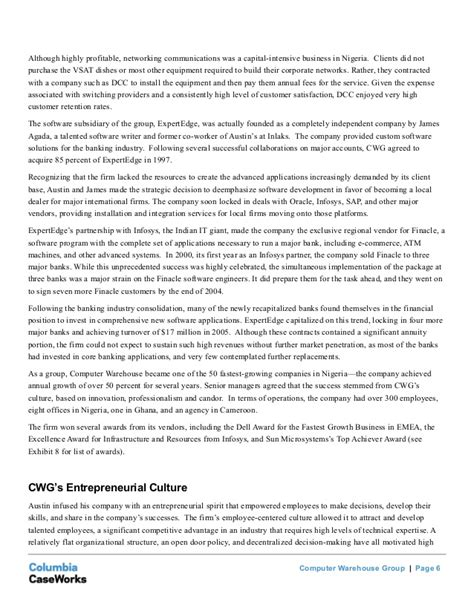 Columbia Mba Deferred Message by Columbia Business School Study On Cwg