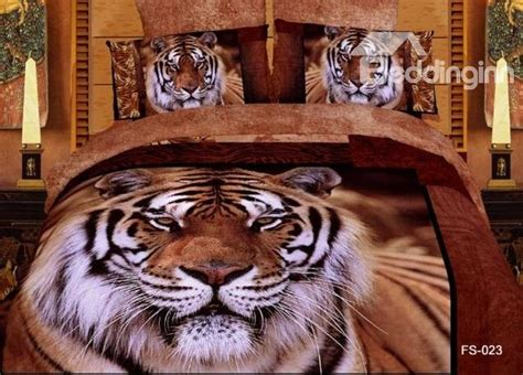 tiger bed set new arrivals queen king size printing powerful tiger with