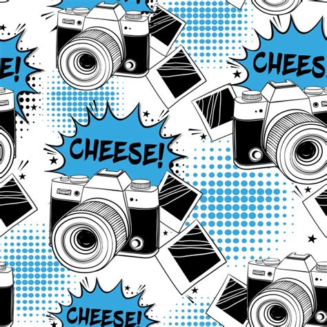 pattern background camera camera pattern background vector free download