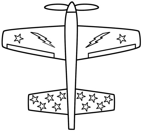 free coloring pages of a is for airplane