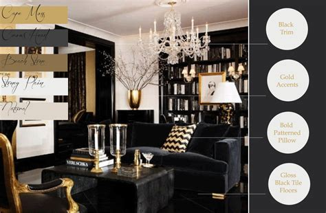 Black And Gold Room Decor Awl In Taste Future Rooms