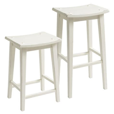 Lawson Backless Counter Stool by Lawson Backless Bar Counter Stool Antique White Pier