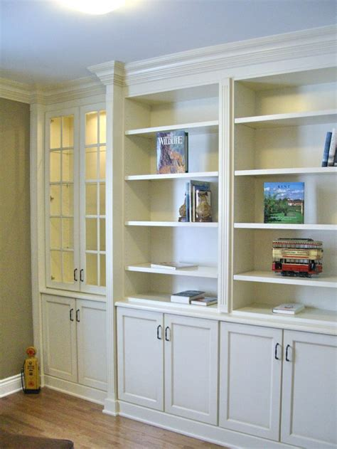 built in white bookcases built in bookcases with fluted column detail large crown