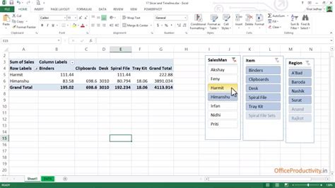 excel tutorial in hindi youtube slicer and timeline advanced microsoft excel tutorial in
