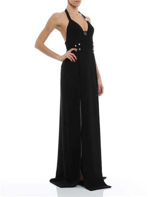So Longdress Versace dress with lace inserts by versus versace evening