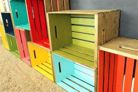 25 best ideas about wood crate shelves on