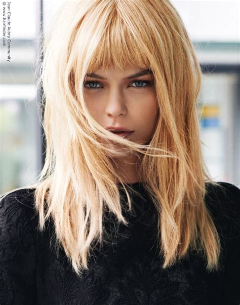 Long blonde hair with straight bangs www pixshark com images galleries with a bite