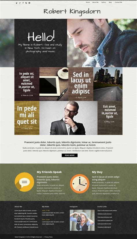 Personal Career Page Wordpress Theme 50663 Career Page Template