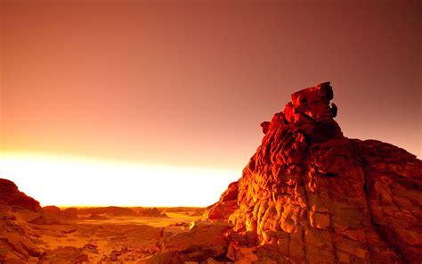 photography landscape sunset rock desert orange
