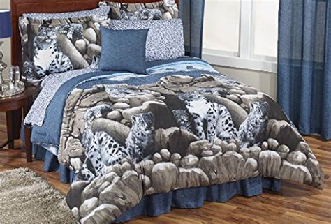 snow leopard comforter set snow leopard wild cat king comforter set 8 piece bed in a