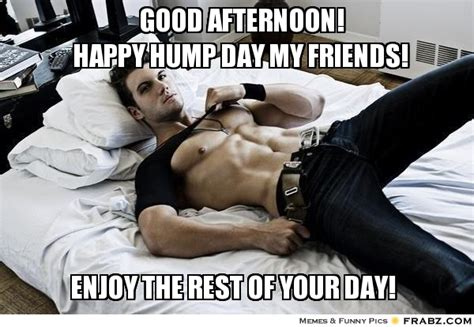 Sexy Hump Day Memes - good afternoon meme good afternoon happy hump day my