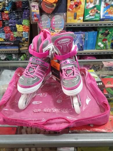 Sepatu Roda Warna Pink jual sepatu roda karet banwei inline skate harga murah m l
