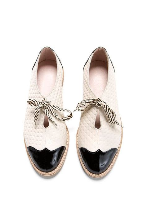 Black And White Flat Shoes sale 35 oxford flat shoes white and black oxford