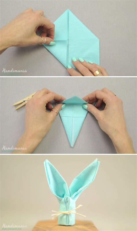 Easter Paper Napkin Folding - 17 best images about napkin folding ideas on