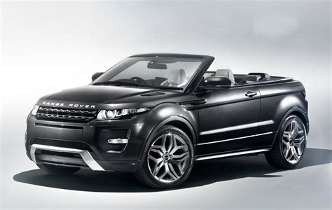 techcracks range rover evoque convertible concept car
