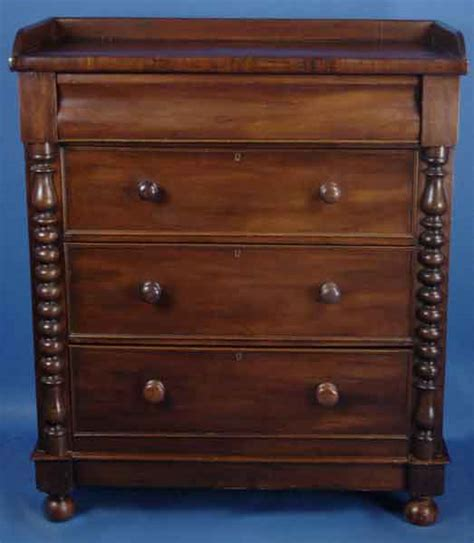 Antiqued Dressers by Antique Scottish Mahogany Dresser For Sale