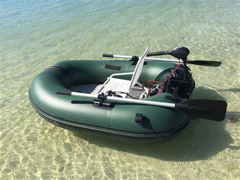 fishing in inflatable boat portable motoraft inflatable fishing boat
