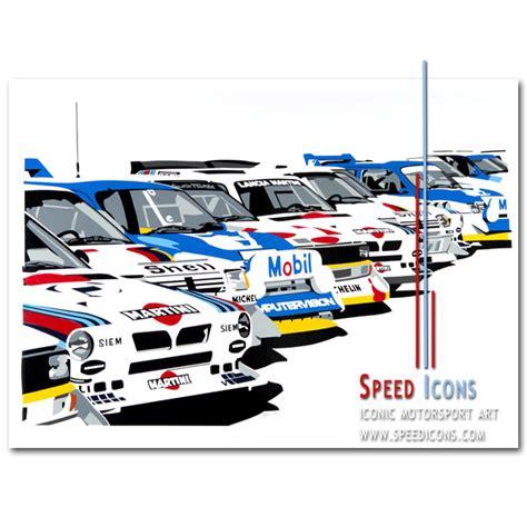 Kaos Print Umakuka Original Rally Car speed icons b rally legends speed icons