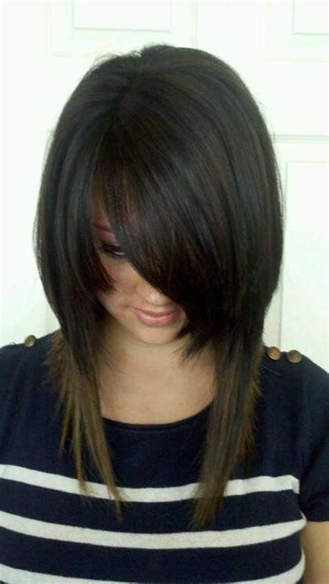long inverted bob hairstyle with bangs photos 20 best long inverted bob hairstyles bob hairstyles 2017