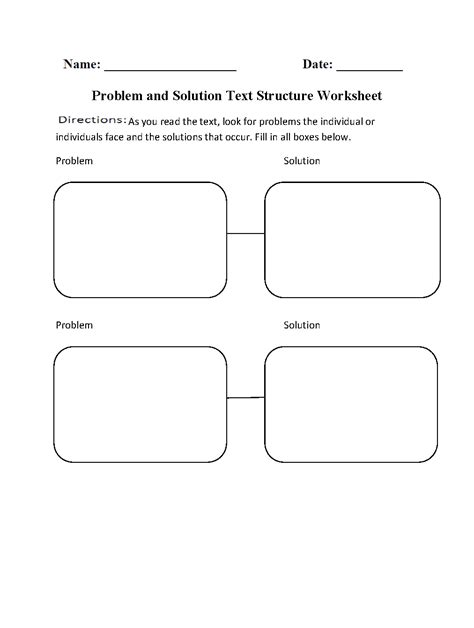 problem and solution reading worksheets 13 best images of problem and solution worksheets 3rd
