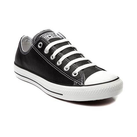 leather converse shoes converse chuck all lo leather sneaker black