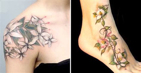 jasmine flower tattoo design 10 splendid flower tattoos tattoodo