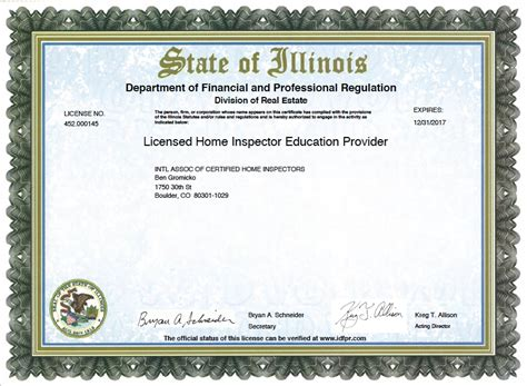 Illinois Plumbing License Renewal how to become a certified home inspector in illinois