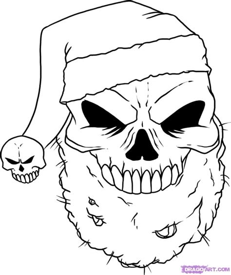 Superb Graffiti Hats #4: Christmas-drawings-ideas-how-to-draw-a-christmas-skull-step-step-skulls-pop-culture.jpg