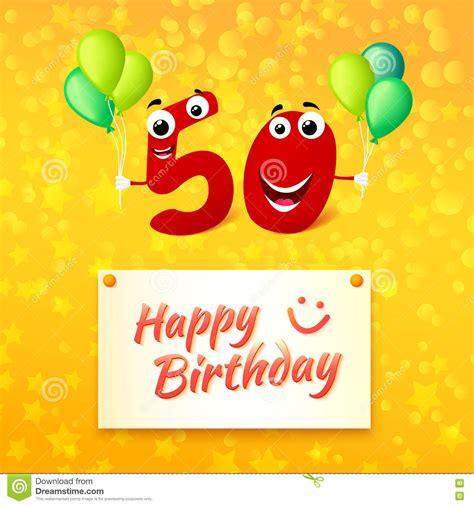 clipart auguri compleanno 50 anni di buon compleanno di cartolina d auguri