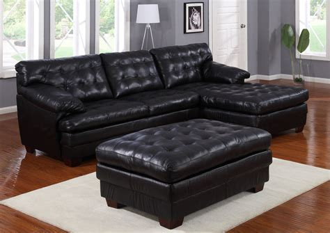 all leather sofa sets homelegance 9817 all leather sectional sofa set black