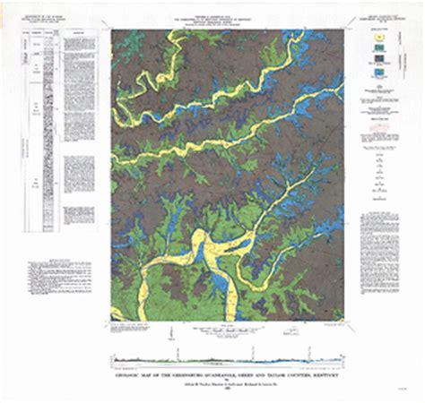 kentucky bedrock map geologic map of the greensburg quadrangle green and